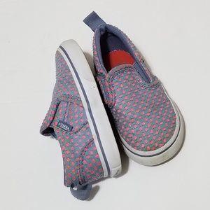 Vans 5 Purple Pink Net Slip On Shoes